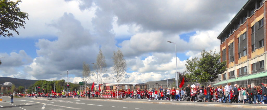 Dearg le Fearg 2017 - march for Irish language rights in Belfast